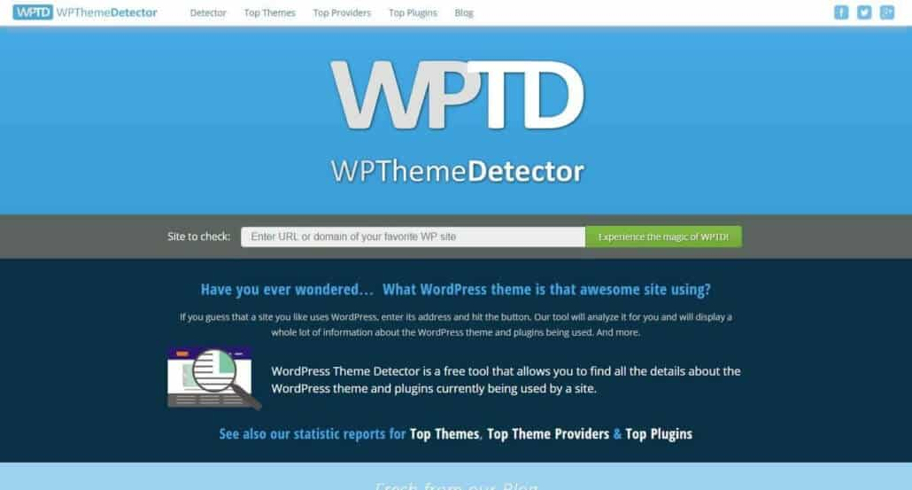 scoprire il tema e i plugin di un sito in wordpress wp theme detector